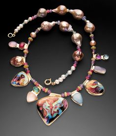 Jewelry by Judy Goskey, a featured artist at the next Contemporary Crafts Market at the Pasadena Convention Center Exhibit Hall, October Craft Markets, Girls Best Friend, Photo Wall, Beaded Necklace, November 2, Contemporary, Diamond, Exhibit, San Francisco