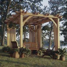 Buy Build-to-suit Pergola Plan at Woodcraft