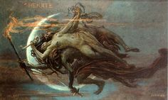 Hekate by Maximilian Pirner. Hecate was the goddess of magic, witchcraft, the night, moon, ghosts and necromancy. Wiccan, Magick, Witchcraft, World Mythology, Greek Mythology, Classical Mythology, Art Magique, Art Noir, Scary Witch