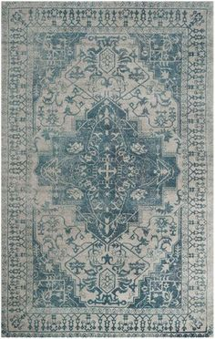 Bason Hand-Tufted Blue/Grey Area Rug