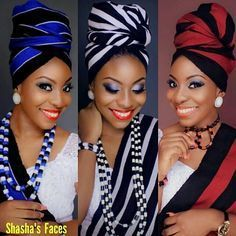 Hi ladies, I've got some exciting new head wrap styles to share with you, and i believe you'll agree with me that these simply are remarkabl. African Beauty, African Women, African Fashion, African Image, Ghanaian Fashion, African Hairstyles, Scarf Hairstyles, Hair Wrap Scarf, African Head Wraps