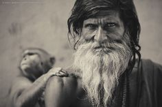 Sadhu and Monkey by Anton Jankovoy on 500px