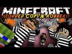 Minecraft Mini-Game : MODDED COPS N ROBBERS! GRAVITY GUN!