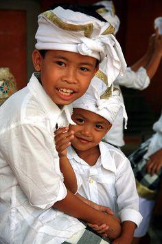 Kids on Galungan - Ubud, Bali by Nino di Bari