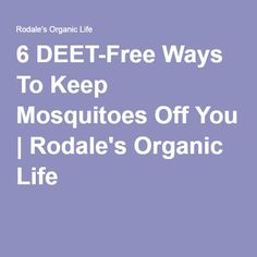 6 DEET-Free Ways To Keep Mosquitoes Off You | Rodale's Organic Life