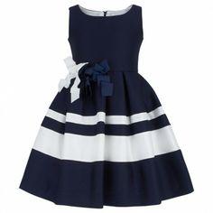 Designer Clothes, Shoes & Bags for Women Girls Formal Dresses, Special Dresses, Kid Dresses, Navy Dress Outfits, Frocks And Gowns, Frocks For Girls, Frack, Dress Tutorials, Kind Mode