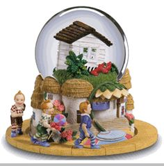 The San Francisco Music Box Company Wizard of Oz Wicked Witch Shoes Under House Snow Globe