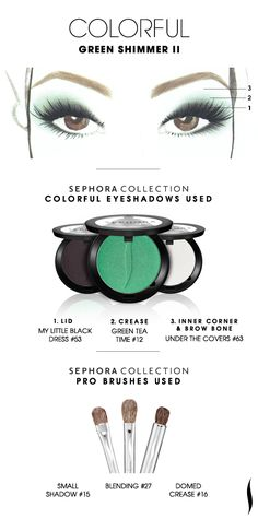 COLORFUL: Green Shimmer 2 HOW TO. #sephora #sephoracollection #eyeshadow #mostpopularpins