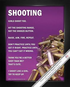 "Shooting Girls Shoot Too 8"" x 10"" Sport Poster Print"