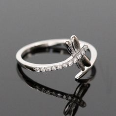 Cubic Zirconia Dragonfly Ring | 925 Sterling Silver