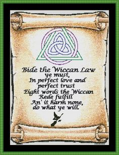 The Wiccan Rede Cross Stitch [witch wicca]