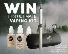 Win the Ultimate Vaping Kit Vaping, Pipes, Cigars, Cool Stuff, Stuff To Buy, Giveaway, Water Bottle, Hobbies, Kit