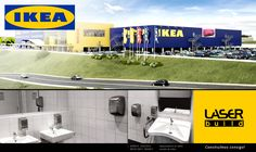 Os nossos produtos no IKEA em Alfragide.  #LaserBuild #Mediclinics #Bobrick #IKEA #Arquitectura #Engenharia #Construção #WC