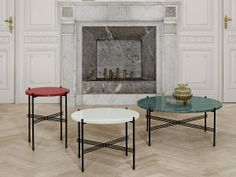 Shop For Gubi TS Table Medium Online, ‪Australia‬. Select From Our Huge, Scandinavian, Modern, Gubi Range. Black And White Marble, Green Marble, Marble Top, Table Furniture, Furniture Design, Table Design, Low Tables, Carpet Styles, Round Coffee Table