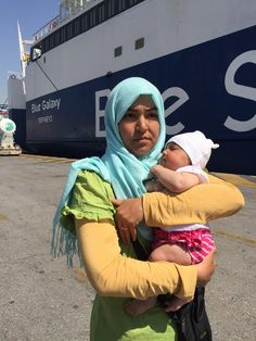 The photo drew outrage -- as well as attention to the precarious situation of migrants and refugees in a Greek port city.