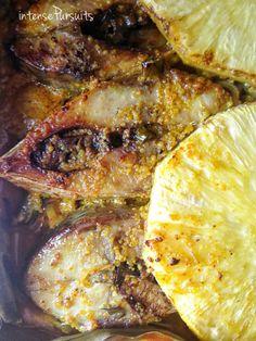 IntensePursuits : Food: baked hilsha with pineapple [boishakhi anarosh ilish]