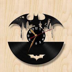 Batman Vinyl Record Clock, Wall Clock, Watch from VinylOK by DaWanda.com