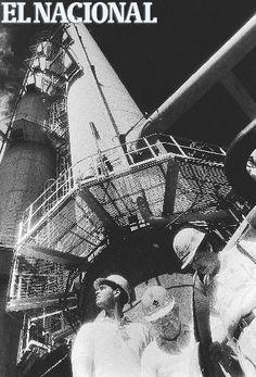Trabajadores de la planta de Olefina de PEQUIVEN (Petróleos de Venezuela). 03-07-1993 (ARCHIVO EL NACIONAL)