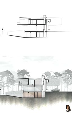 Photoshop architectural section rendering - Architectural Presentations - Architecture Coupes Architecture, Poster Architecture, Le Corbusier Architecture, Architecture Baroque, Architecture Drawing Plan, Concept Architecture, Architecture Design, Section Drawing Architecture, Architecture Diagrams