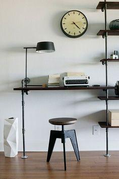 casa de fifia blog de decoração : estante de tubos de metal faça você mesmo