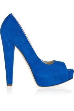 royal blue peeptoes