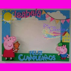 Girl Birthday Themes, Pig Birthday, 2nd Birthday Parties, Peppa Pig Pinata, Cumple Peppa Pig, Peppa Pig Pictures, Ben And Holly Party Ideas, Aniversario Peppa Pig, Photo Frame Prop