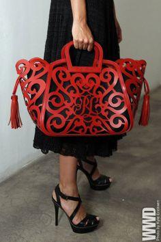 Ralph Lauren laser cut handbag