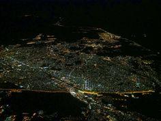 Tijuana, Baja California, Mexico  and  San Diego, California, U.S.A.  from the air