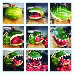 Dinosaur watermelon                                                       … (fun food geburtstag)