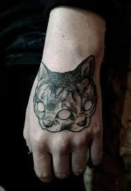 Resultado de imagem para cat skull tattoo                                                                                                                                                                                 More