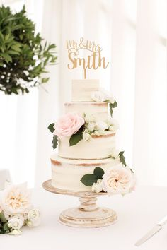 Semi Naked Wedding Cake with beautiful flowers and Mr. cake topper Photography by Rachel Rose Photographer Semi Naked Wedding Cake with beautiful flowers and Mr. cake topper Photography by Rachel Rose Photographer Black Wedding Cakes, Beautiful Wedding Cakes, Beautiful Flowers, Cake Wedding, Spring Wedding Cakes, Wedding Cake Centerpieces, Wedding Decorations, Wedding Cake Designs, Wedding Cake Toppers
