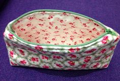 Shabby Chic and Moda hearts & cabbage cosmetic bag