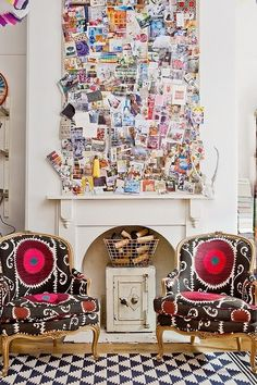 Inspiration front and center! Would love to do this with pics and postcards!
