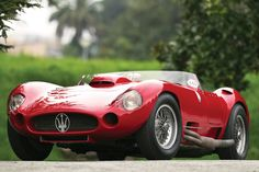 This superb 1956 Maserati 450S Prototype by Carrozzeria Fantuzzi is the exact racecar that Stirling Moss drove in the 1956 MilleMiglia , w...