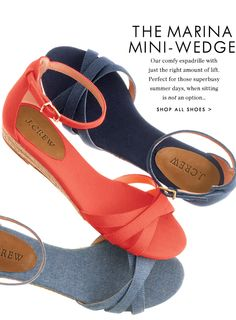 J Crew - Meet The Marina Wedge