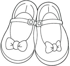 Free Girls Shoes Coloring Pages to Printable Coloring Girls Shoes for Kids to Print Free Pictures Machine Embroidery Applique, Hand Embroidery Designs, Coloring Pages For Girls, Coloring Books, Kid Shoes, Girls Shoes, Shoe Template, Quiet Book Patterns, Outline Drawings