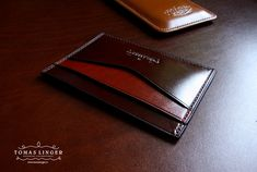 genuine leather mini wallet .
