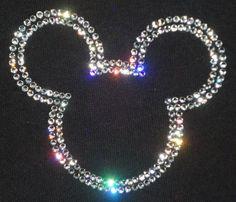 Swarovski Crystal Rhinestone Mickey Transfer