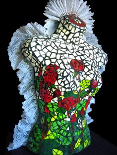 I'm Colleen Patricia Williams. I do mosaics both illuminated and not illuminated. I have a spinal cord injury that led me from painting to mosaics. My need to create art is such that I can't go. Stone Mosaic, Mosaic Glass, Glass Art, Illumination Art, Meet The Artist, Original Art, Lamp Ideas, Sculpture, Side View