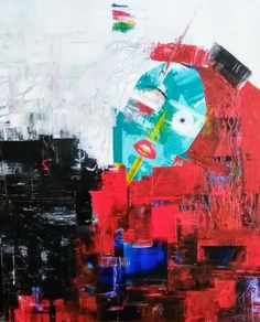 """Her Fight"" Acrylic 24x32 painting. Original painting by artist Shari Upton!"