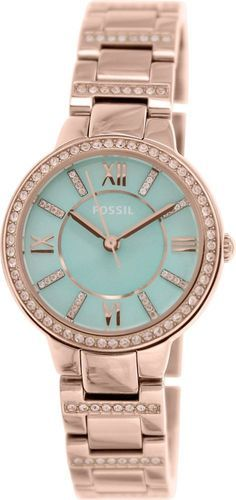 Fossil Women's Virginia ES3652 Rose-Gold Stainless-Steel Quartz Watch #Fossil #FashionWatches