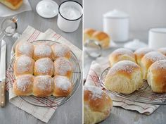 Brioche buchty Yeast Bread, Bread Baking, Cake & Co, Kid Friendly Meals, Food Inspiration, Sweet Recipes, Love Food, Food And Drink, Cooking Recipes