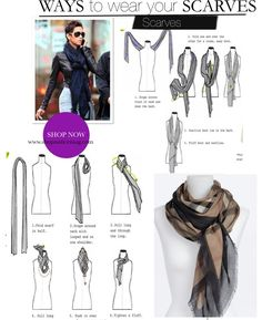 Fashionable Ways To Wear A Scarf!!