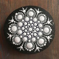 The Neutral Collection: Mandala Painted Stone  Hand Painted