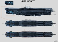 UNSC Infinity by sparth Spaceship Art, Spaceship Design, Unsc Halo, Halo Ships, Combat Armor, Starship Concept, Sci Fi Spaceships, Capital Ship, Space Battles