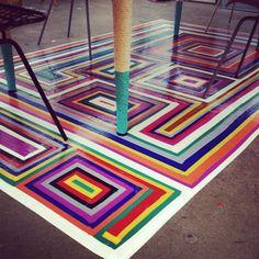 Incredible faux rug!