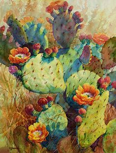 CACTUS ARRAY by Mary Shepard  ~ Giclee print on watercolor paper...image size:10.5 x 14.5