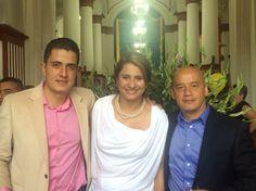 Con los alcaldes entrante y saliente de Titiribí