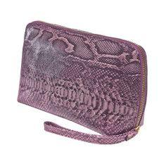 Snake lila Cosmetic Bag, Snake, Cosmetics, Bags, Fashion, Schmuck, Handbags, Moda, Fashion Styles