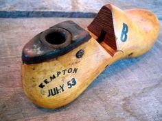 Vintage Wood Shoe Form - Small Antique Shoe Form - Cobblers Shoe Form - Baby Shoe Form - Wood Shoe - Childrens Shoe - 1950s - Kempton via Etsy